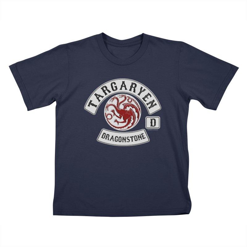 House Targaryen Biker patch Kids T-Shirt by doombxny's Artist Shop