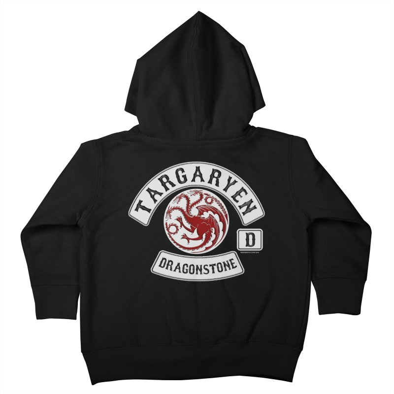 House Targaryen Biker patch Kids Toddler Zip-Up Hoody by doombxny's Artist Shop