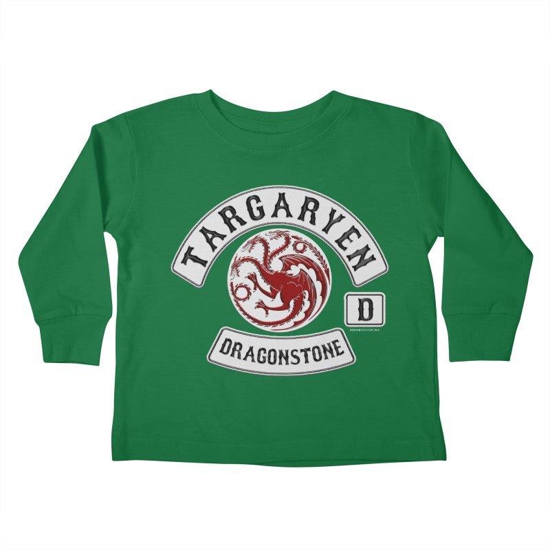 House Targaryen Biker patch Kids Toddler Longsleeve T-Shirt by doombxny's Artist Shop