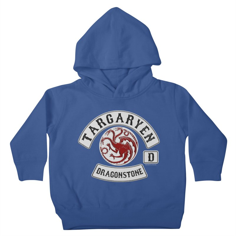 House Targaryen Biker patch Kids Toddler Pullover Hoody by doombxny's Artist Shop