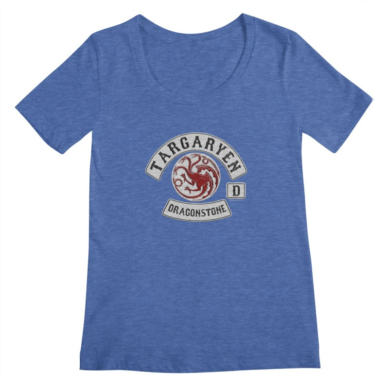 House Targaryen Biker patch Women's Scoopneck by doombxny's Artist Shop