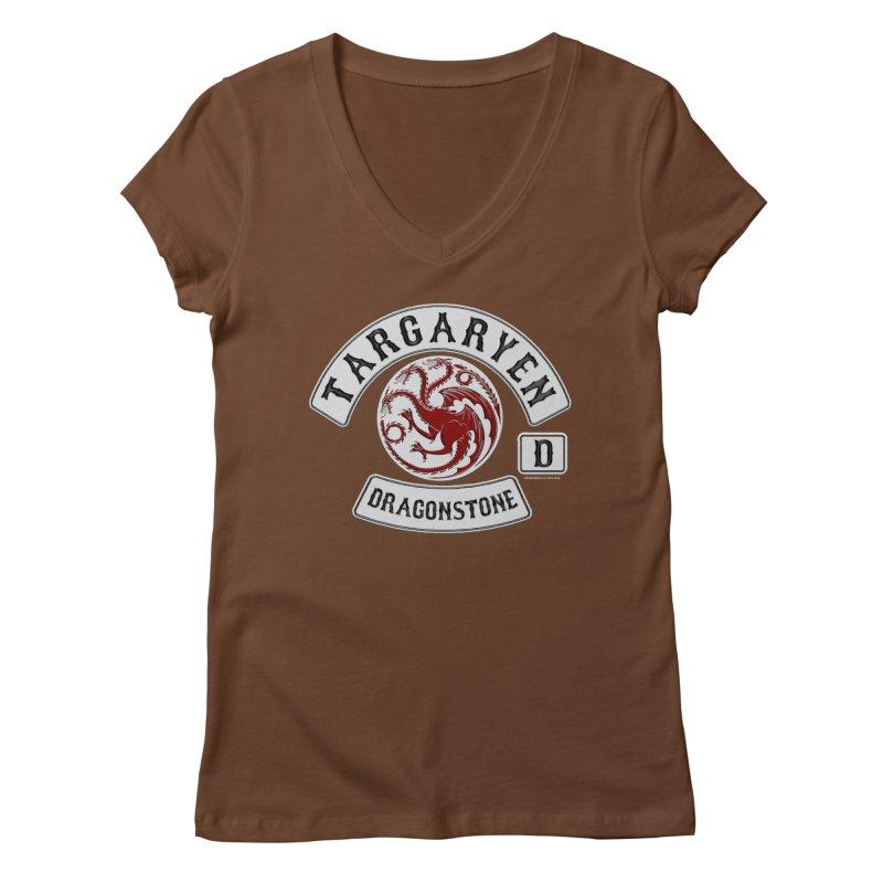 House Targaryen Biker patch Women's V-Neck by doombxny's Artist Shop