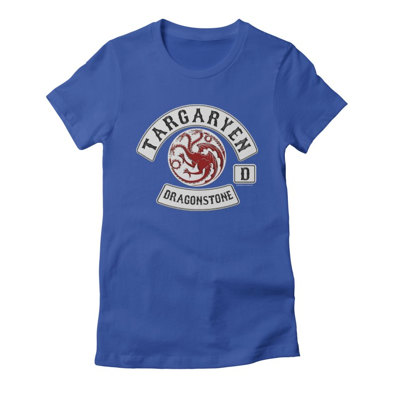 House Targaryen Biker patch Women's Fitted T-Shirt by doombxny's Artist Shop