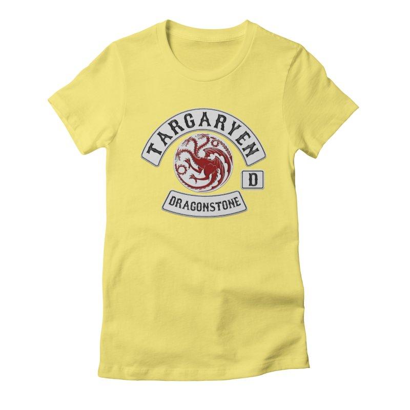 House Targaryen Biker patch Women's Fitted T-Shirt by doombxny's Artist Shop