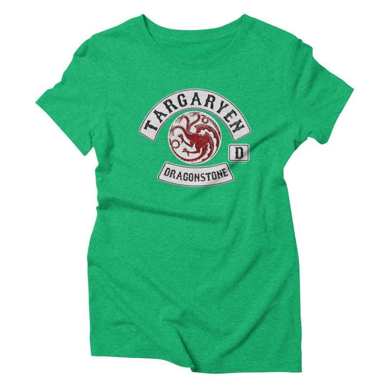 House Targaryen Biker patch Women's Triblend T-Shirt by doombxny's Artist Shop