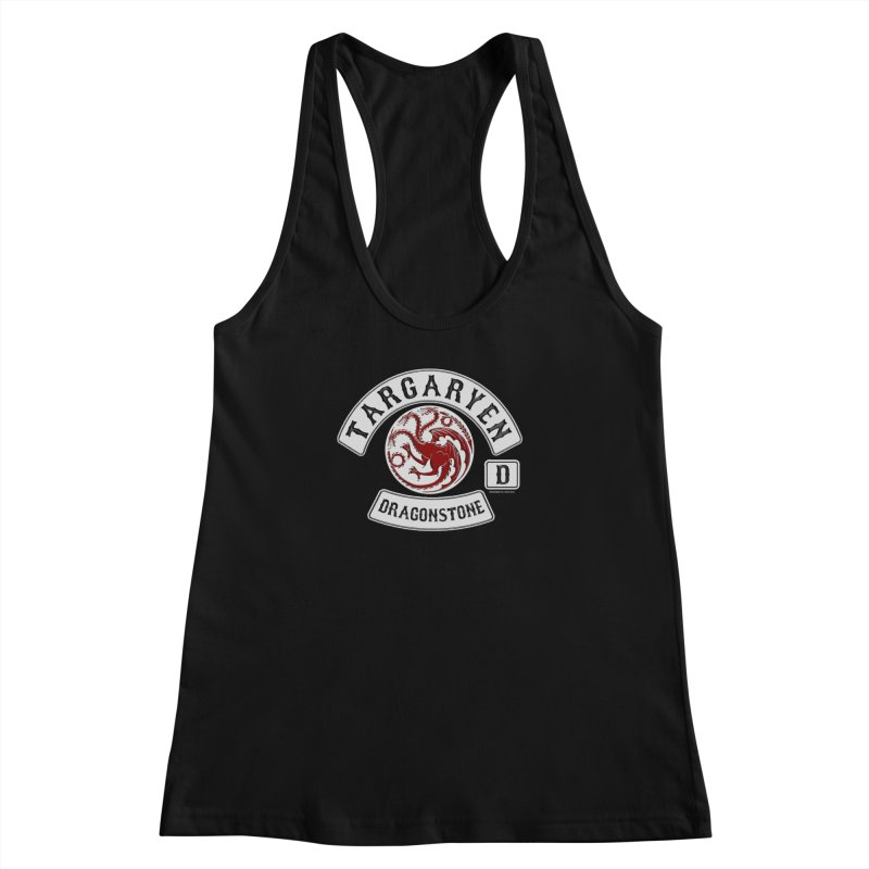 House Targaryen Biker patch Women's Racerback Tank by doombxny's Artist Shop