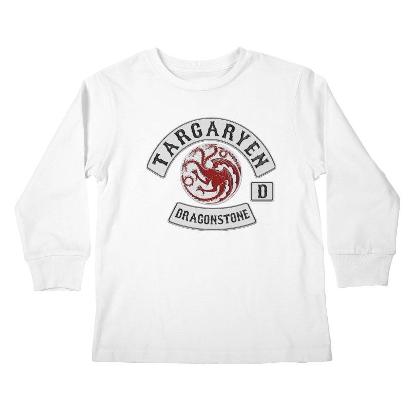 House Targaryen Biker patch Kids Longsleeve T-Shirt by doombxny's Artist Shop
