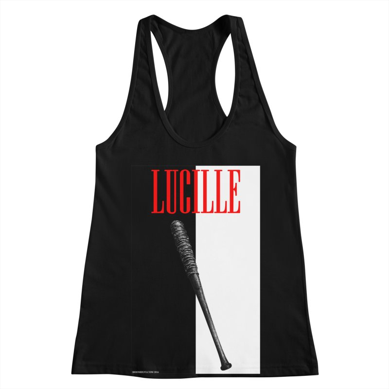Lucille Face Women's Racerback Tank by doombxny's Artist Shop