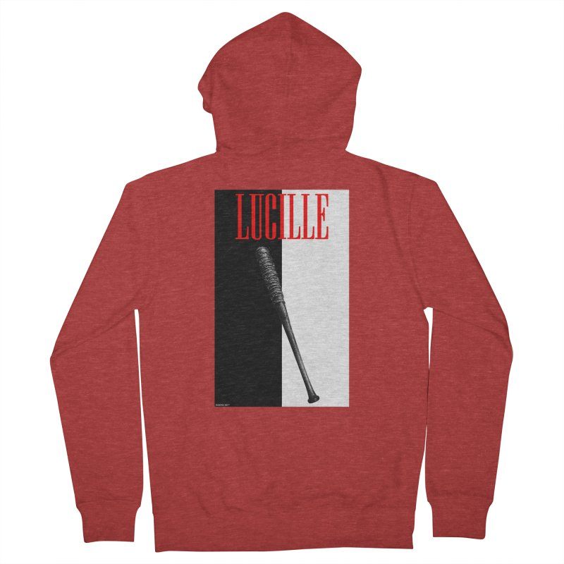 Lucille Face Men's Zip-Up Hoody by doombxny's Artist Shop