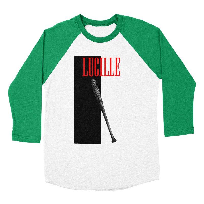 Lucille Face Men's Baseball Triblend T-Shirt by doombxny's Artist Shop