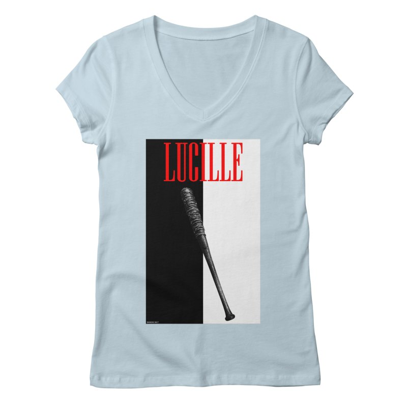 Lucille Face Women's V-Neck by doombxny's Artist Shop