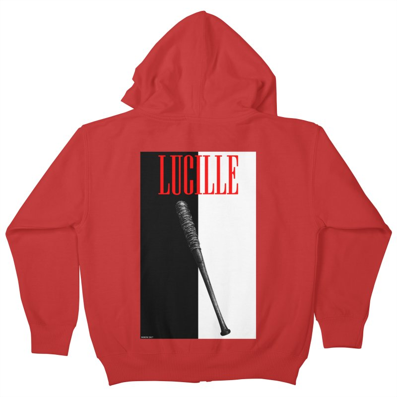 Lucille Face Kids Zip-Up Hoody by doombxny's Artist Shop