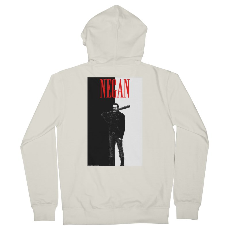 Negan Face Women's French Terry Zip-Up Hoody by doombxny's Artist Shop