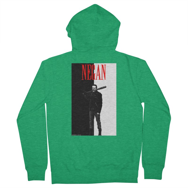 Negan Face Men's Zip-Up Hoody by doombxny's Artist Shop