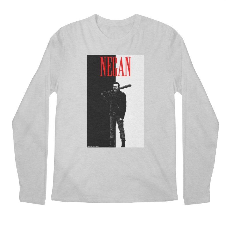 Negan Face Men's Regular Longsleeve T-Shirt by doombxny's Artist Shop