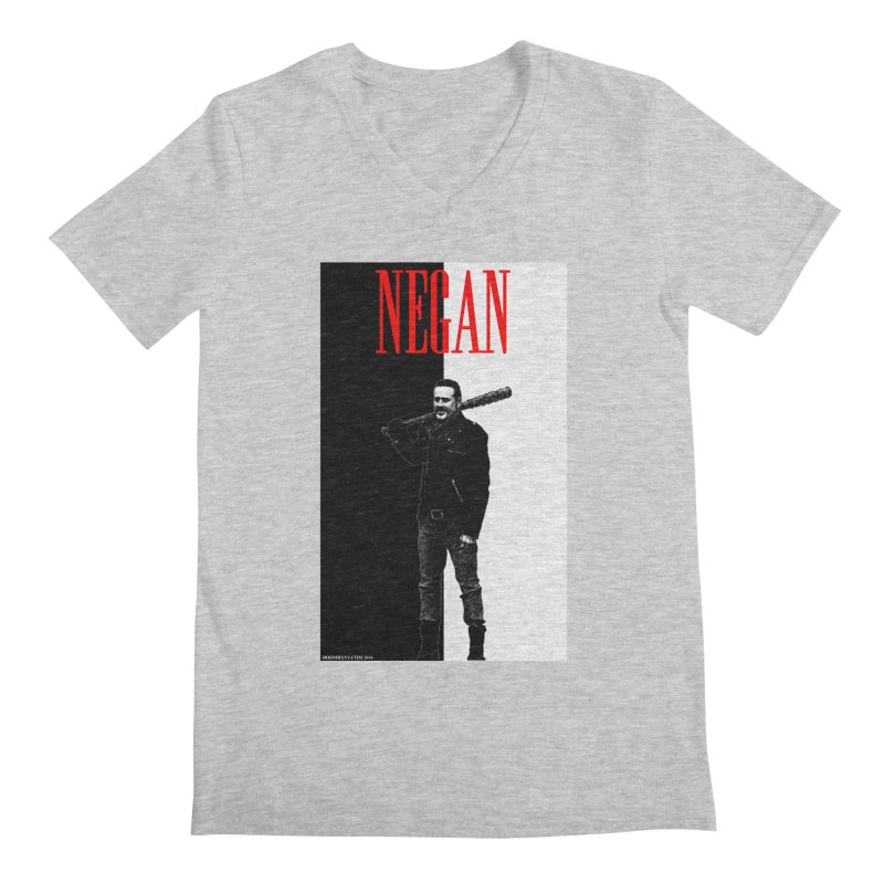 Negan Face Men's V-Neck by doombxny's Artist Shop