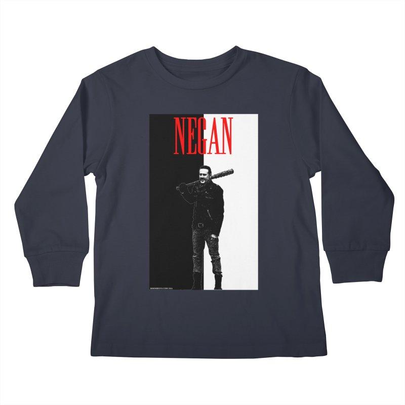 Negan Face Kids Longsleeve T-Shirt by doombxny's Artist Shop