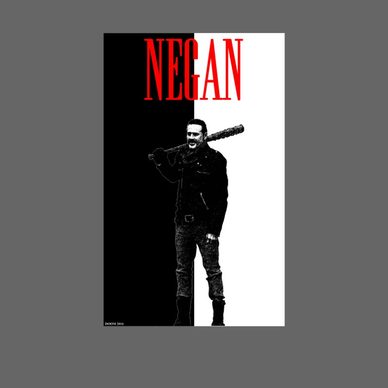 Negan Face None  by doombxny's Artist Shop