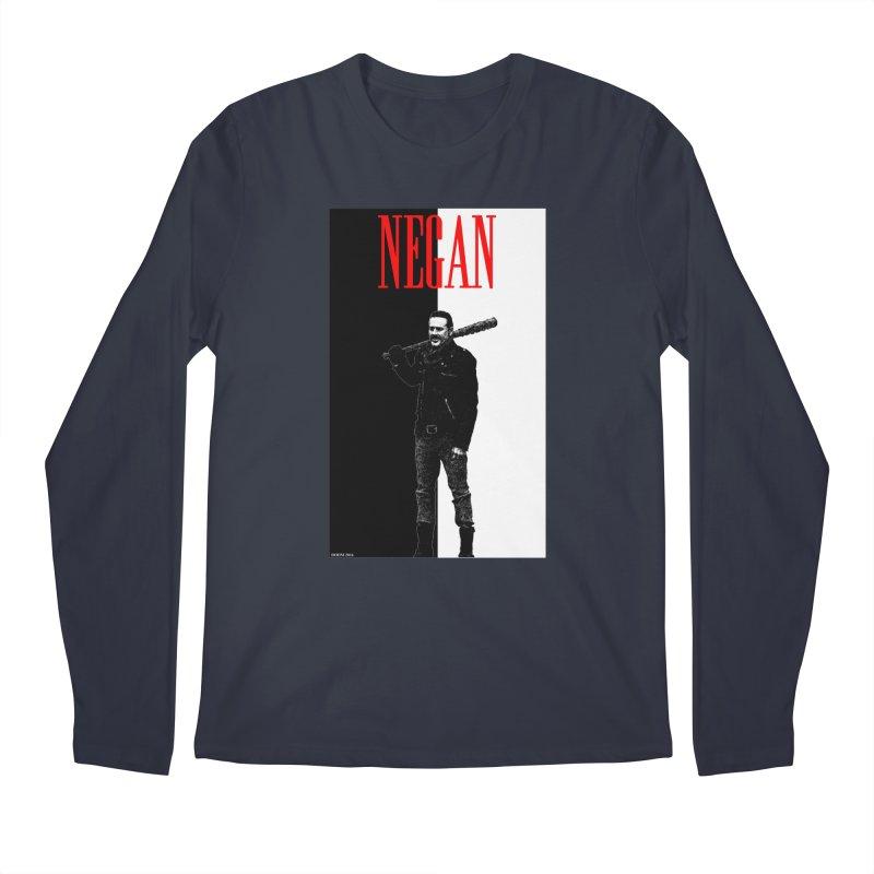 Negan Face Men's Longsleeve T-Shirt by doombxny's Artist Shop