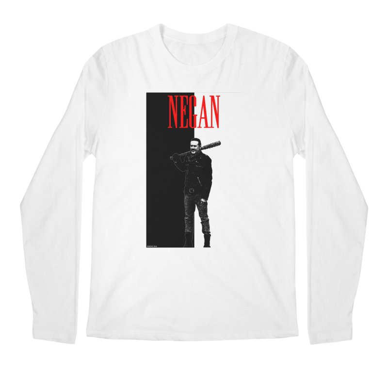 Negan Face Men's Longsleeve T-Shirt by doombxny's Artist Shop