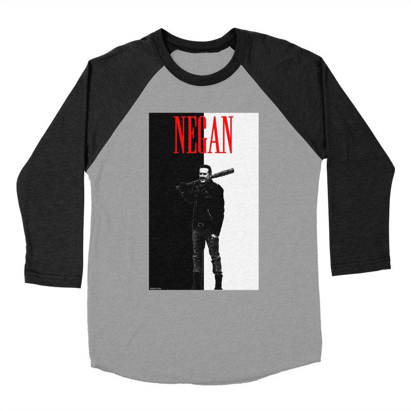 Negan Face Women's Baseball Triblend T-Shirt by doombxny's Artist Shop
