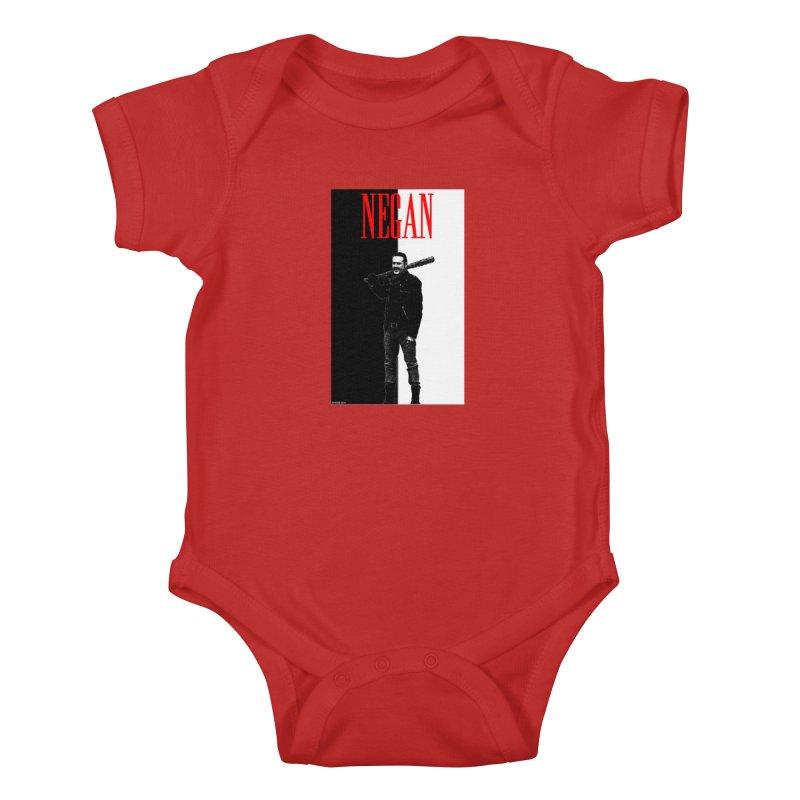 Negan Face Kids Baby Bodysuit by doombxny's Artist Shop