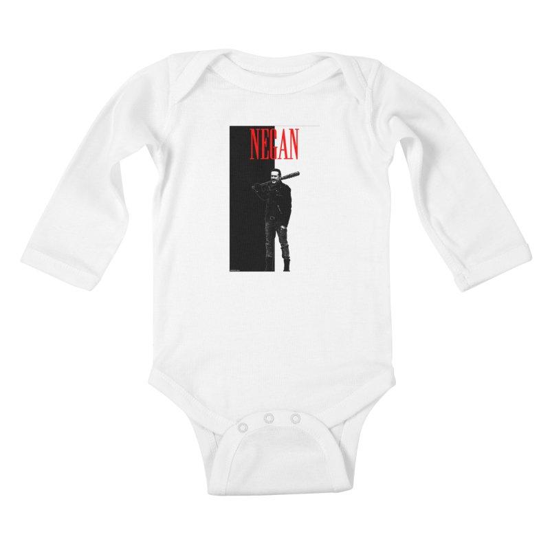 Negan Face Kids Baby Longsleeve Bodysuit by doombxny's Artist Shop