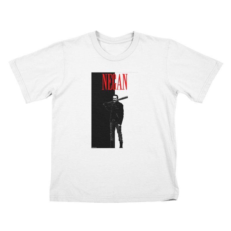 Negan Face Kids T-Shirt by doombxny's Artist Shop