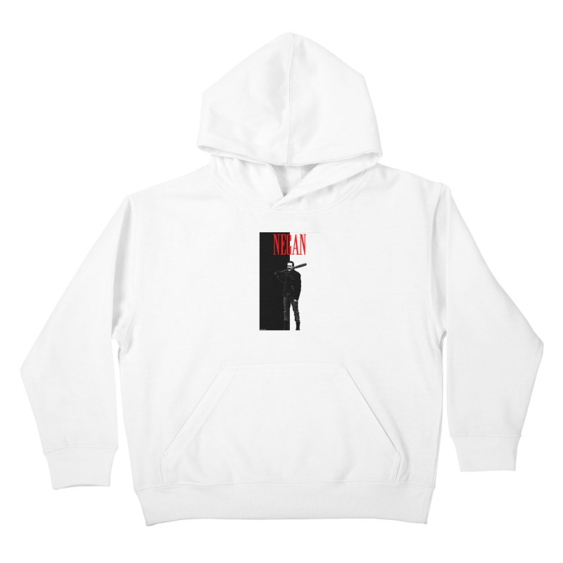 Negan Face Kids Pullover Hoody by doombxny's Artist Shop