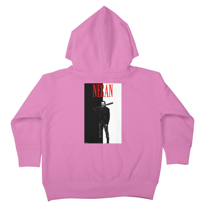 Negan Face Kids Toddler Zip-Up Hoody by doombxny's Artist Shop