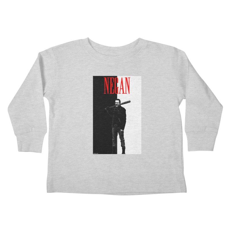 Negan Face Kids Toddler Longsleeve T-Shirt by doombxny's Artist Shop