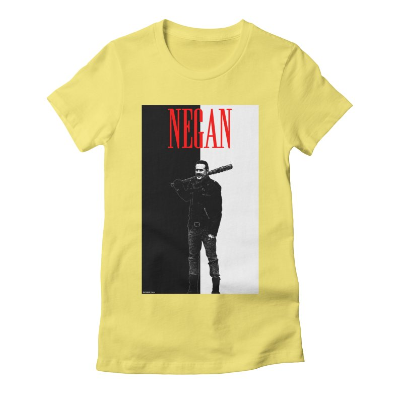 Negan Face Women's Fitted T-Shirt by doombxny's Artist Shop