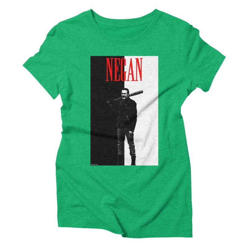 Negan Face Women's Triblend T-Shirt by doombxny's Artist Shop