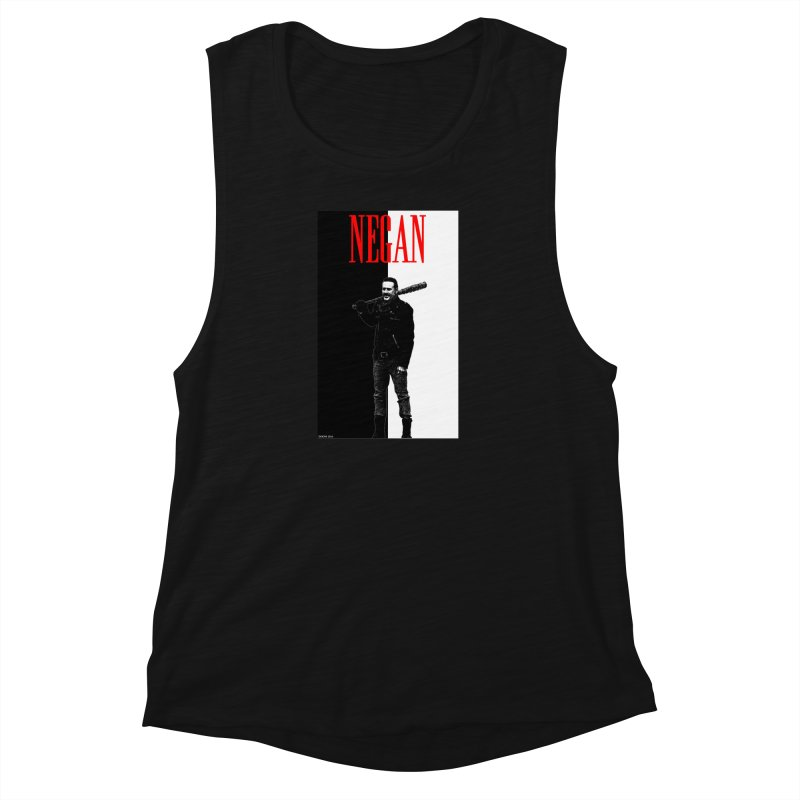 Negan Face Women's Muscle Tank by doombxny's Artist Shop