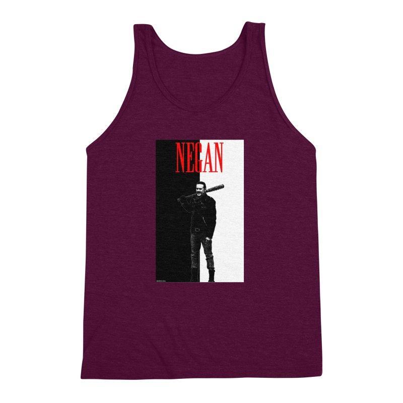 Negan Face Men's Triblend Tank by doombxny's Artist Shop