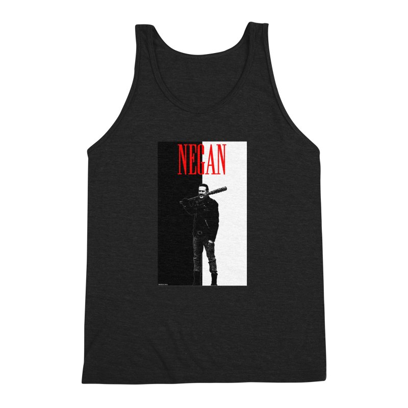 Negan Face Men's Triblend Tank by doombxny's Artist Shop