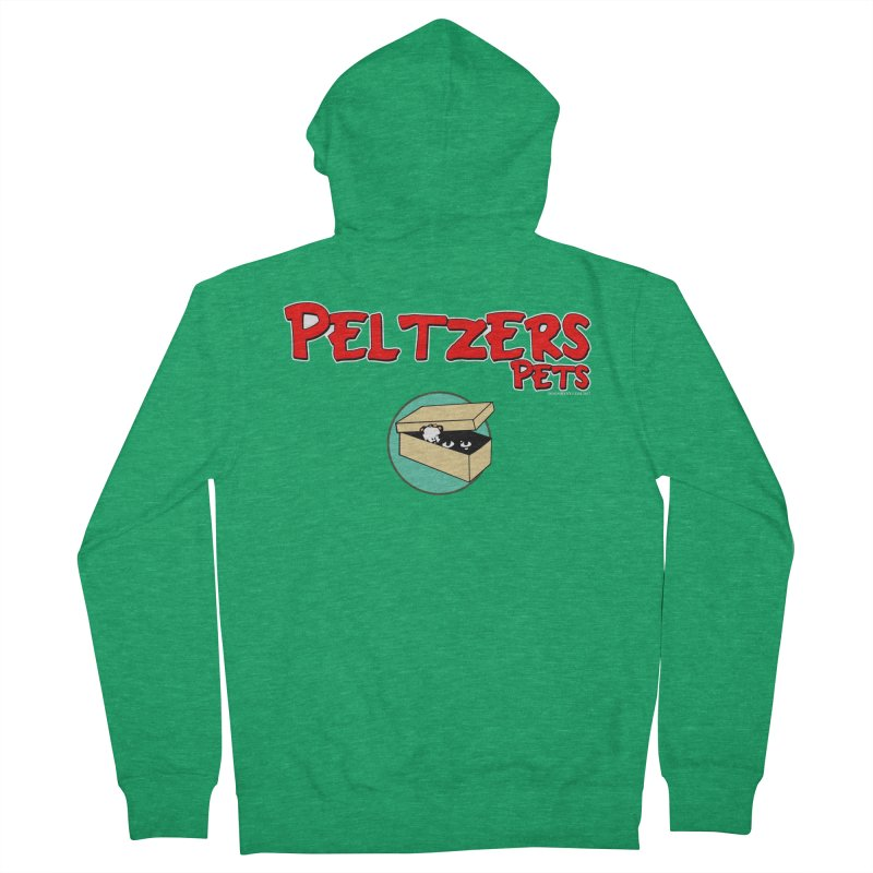 Peltzers Pets Women's French Terry Zip-Up Hoody by doombxny's Artist Shop