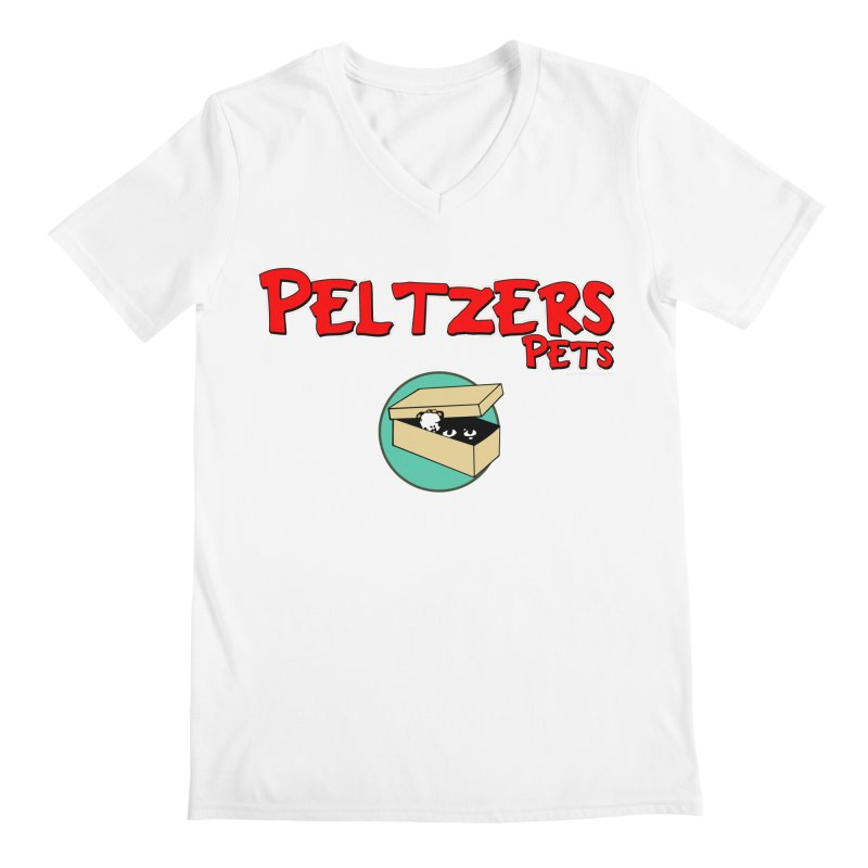 Peltzers Pets Men's Regular V-Neck by doombxny's Artist Shop