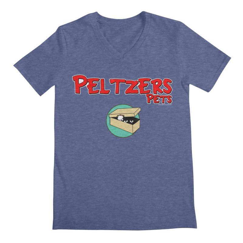 Peltzers Pets Men's V-Neck by doombxny's Artist Shop