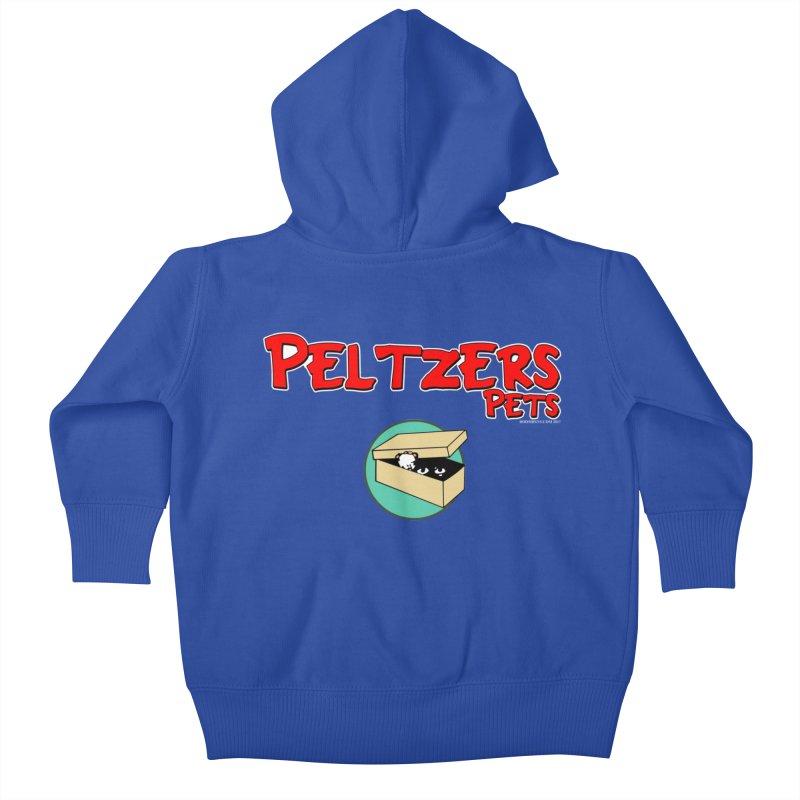 Peltzers Pets Kids Baby Zip-Up Hoody by doombxny's Artist Shop