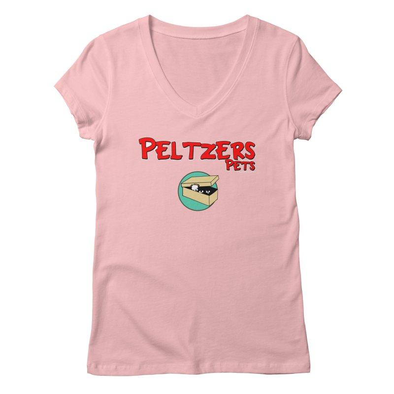 Peltzers Pets Women's V-Neck by doombxny's Artist Shop