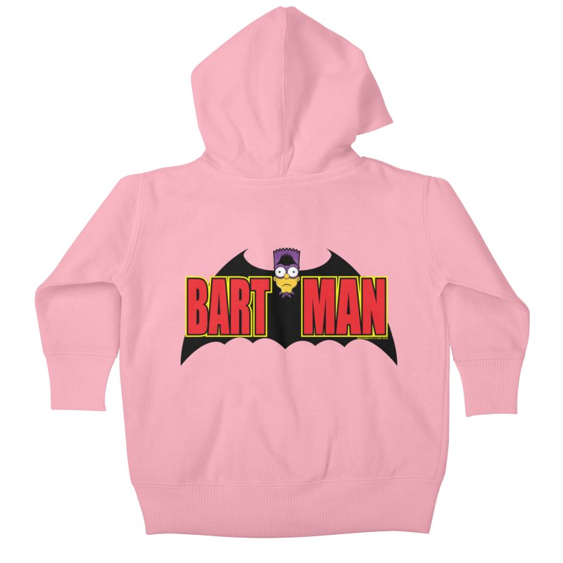 Bart Man Kids Baby Zip-Up Hoody by doombxny's Artist Shop