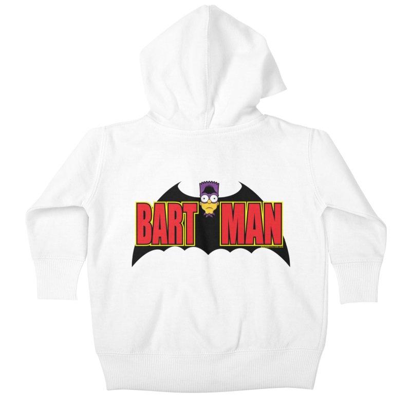 Bart Man Kids Baby Zip-Up Hoody by doombxny's Artist Shop