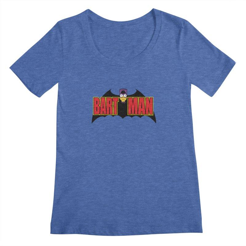 Bart Man Women's Scoopneck by doombxny's Artist Shop