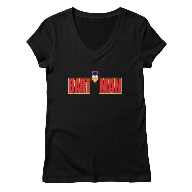 Bart Man Women's V-Neck by doombxny's Artist Shop