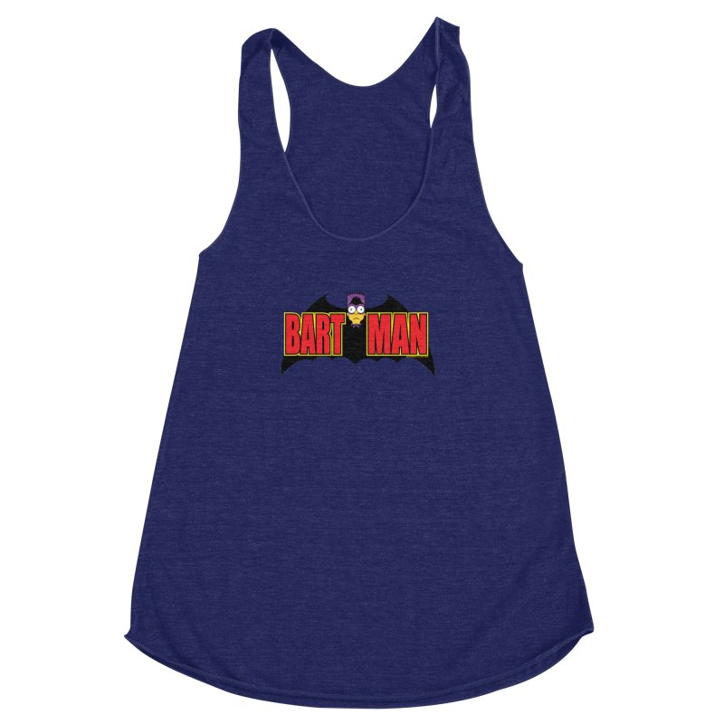 Bart Man Women's Racerback Triblend Tank by doombxny's Artist Shop