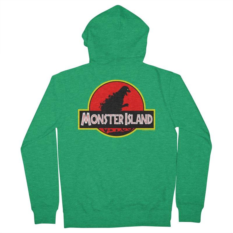 Monster Island Men's Zip-Up Hoody by doombxny's Artist Shop