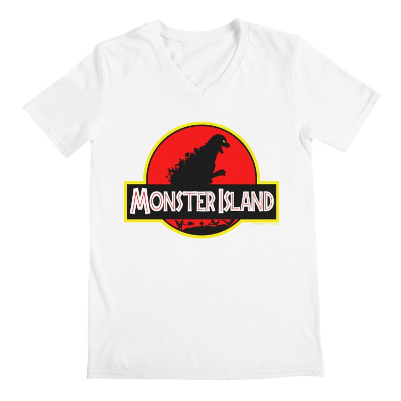 Monster Island Men's V-Neck by doombxny's Artist Shop