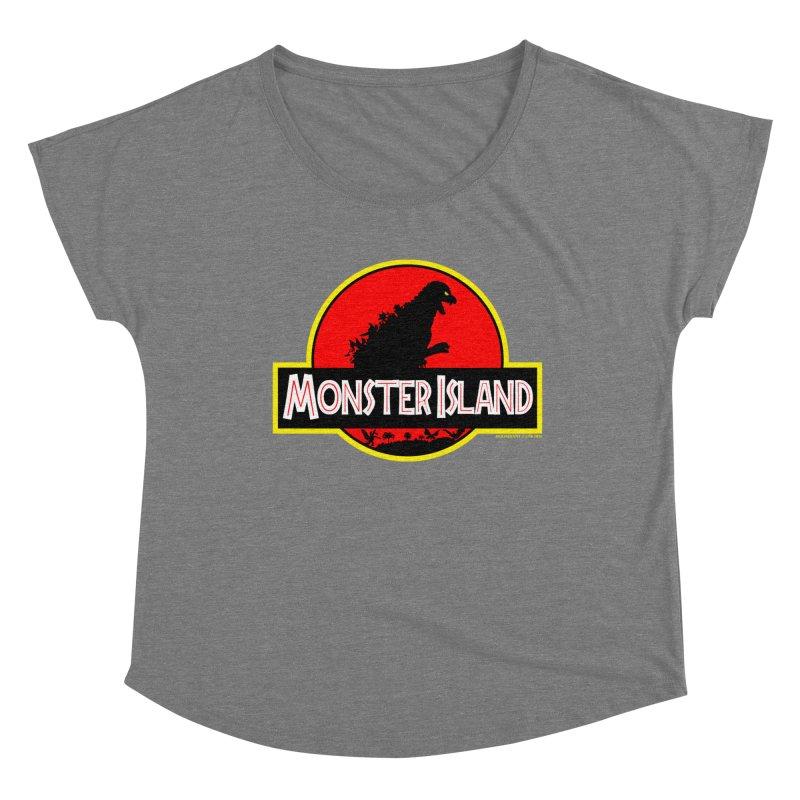 Monster Island Women's Scoop Neck by doombxny's Artist Shop