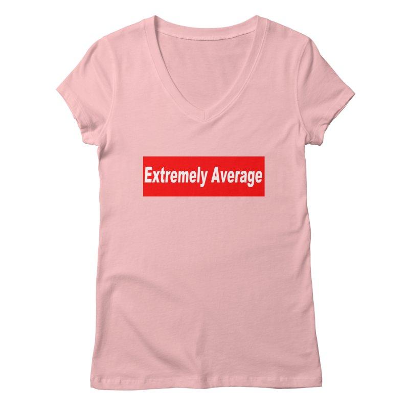 Extremely Average Women's Regular V-Neck by doombxny's Artist Shop
